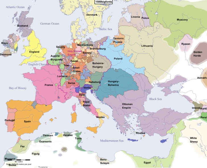 Hist100 maps of europe from 1500 2000 europe in year 1600g gumiabroncs Images